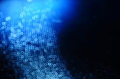Abstracte Blauwe Fonkelingsachtergrond Royalty-vrije Stock Afbeelding