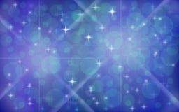 Abstracte Blauwe Fonkelingsachtergrond Stock Foto's