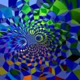Abstracte Blauwe Fractal Nettenachtergrond Stock Afbeeldingen