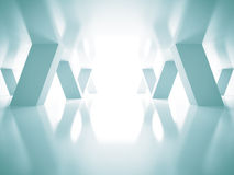 Abstracte Blauwe Futuristische Architectuurachtergrond Royalty-vrije Stock Foto