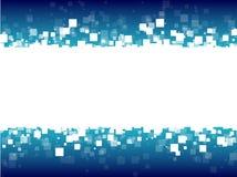 Abstracte blauwe futuristische witte vierkanten als achtergrond Stock Afbeelding
