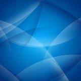 Abstracte Blauwe Gebogen Achtergrond Vector Illustratie