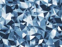 Abstracte blauwe gefacetteerde achtergrond royalty-vrije illustratie
