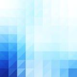 Abstracte, blauwe geometrische achtergrond. vector illustratie
