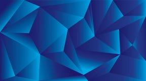 Abstracte Blauwe Geometrische Achtergrond Stock Afbeelding