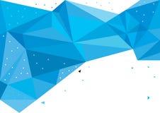 Abstracte blauwe geometrische achtergrond Royalty-vrije Illustratie