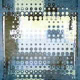 Abstracte blauwe geometrische gestippelde patroonachtergrond Stock Afbeeldingen