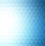 Abstracte blauwe geometrische technologieachtergrond Stock Afbeeldingen