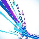 Abstracte blauwe glanzende lijnen vectorachtergrond Royalty-vrije Stock Afbeeldingen