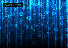 Abstracte blauwe gloeiende achtergrond Stock Foto