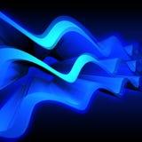 Abstracte blauwe golven Stock Afbeelding