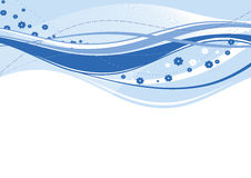 Abstracte blauwe golven Royalty-vrije Stock Foto