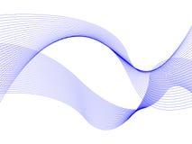 Abstracte blauwe golven royalty-vrije illustratie