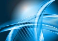 Abstracte blauwe golven vectorachtergrond Stock Afbeelding