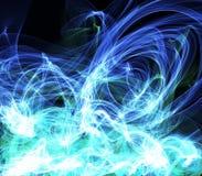 Abstracte Blauwe Golvenachtergrond stock foto's