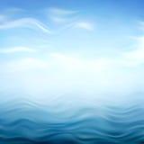 Abstracte blauwe golvende achtergrond Royalty-vrije Stock Foto
