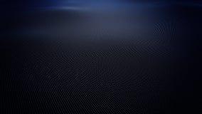 Abstracte blauwe golvende die oppervlakte van ballen, het 3D teruggeven wordt gemaakt Stock Foto's