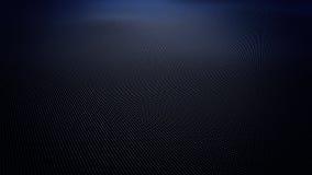 Abstracte blauwe golvende die oppervlakte van ballen wordt gemaakt stock footage