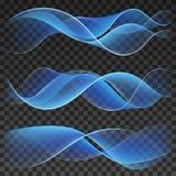Abstracte blauwe golvende elementen als achtergrond Royalty-vrije Stock Afbeeldingen