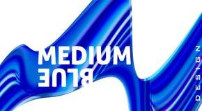 Abstracte blauwe golvende vorm op wit Futuristisch ontwerp stock fotografie