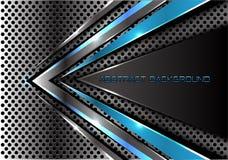 Abstracte blauwe grijze pijlsnelheid op van het het achtergrond netwerkontwerp van de metaalcirkel moderne futuristische cretive  stock illustratie