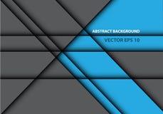 Abstracte blauwe grijze van het de textuurontwerp van de lijnschaduw moderne futuristische vector als achtergrond Stock Foto's