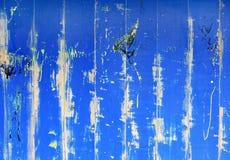 Abstracte blauwe grunge houten muur voor achtergrond Stock Fotografie