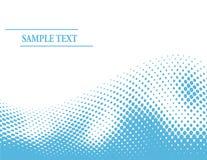 Abstracte blauwe halftone golf Stock Afbeelding
