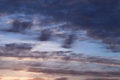 Abstracte blauwe hemel vage achtergrond Fantasie of science fictionconcept Melkweg en ruimteontwerp royalty-vrije stock afbeelding
