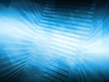 Abstracte blauwe hi-tech achtergrond 3d geef terug Royalty-vrije Stock Afbeeldingen