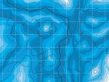 Abstracte blauwe kaart vector illustratie