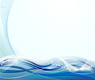 Abstracte blauwe krommenachtergrond royalty-vrije illustratie