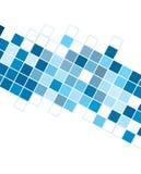 Abstracte blauwe kubussenachtergrond voor ontwerpen Royalty-vrije Stock Afbeelding