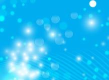 Abstracte Blauwe Lichte Achtergrond Stock Foto's