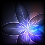 Abstracte blauwe lichte bloem vector illustratie