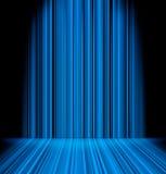 Abstracte blauwe lichte sabels Stock Afbeelding