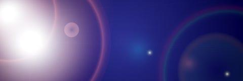Abstracte blauwe lichte samenstelling Royalty-vrije Stock Afbeeldingen