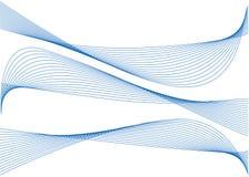 Abstracte blauwe linten Stock Fotografie