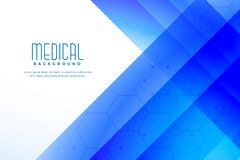 Abstracte blauwe medische gezondheidszorgachtergrond stock illustratie