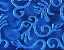 Abstracte blauwe metaalachtergrond Royalty-vrije Stock Afbeelding