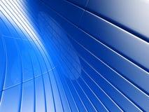 Abstracte blauwe metaalluxeachtergrond Royalty-vrije Stock Afbeeldingen