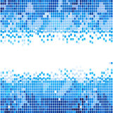 Abstracte blauwe mozaïekachtergrond Stock Foto's