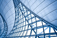 Abstracte blauwe muur Royalty-vrije Stock Foto