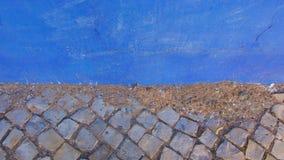 Abstracte blauwe muurtextuur voor achtergrondgebruik Royalty-vrije Stock Afbeeldingen