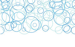 Abstracte blauwe naadloze cirkels horizontale grens Royalty-vrije Stock Foto