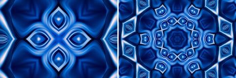 Abstracte blauwe natuurlijke achtergrond Stock Afbeeldingen