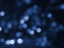 Abstracte blauwe onscherpe rug Stock Foto's