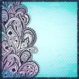 Abstracte blauwe Paisley achtergrond Stock Fotografie