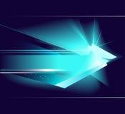 Abstracte blauwe pijl Stock Illustratie