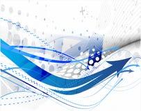 Abstracte blauwe pijlachtergrond Stock Afbeeldingen